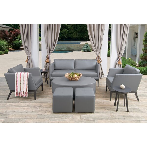 Mandeville 8 Piece Sofa Seating Group with Cushions by Beachcrest Home