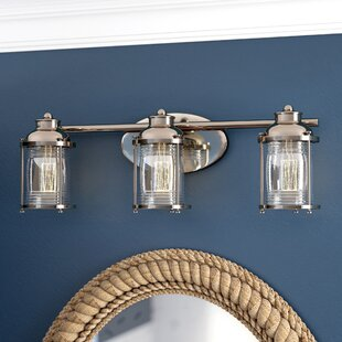 Affordable Price Galsworthy 3-Light Vanity Light By Beachcrest Home