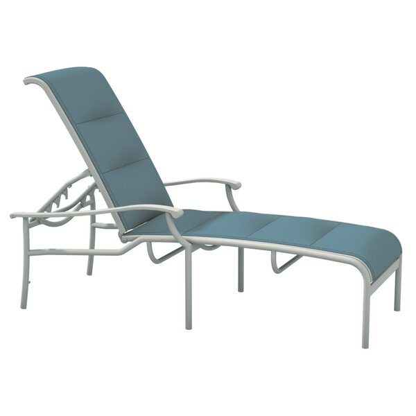 Sorrento Padded Sling Reclining Chaise Lounge by Tropitone