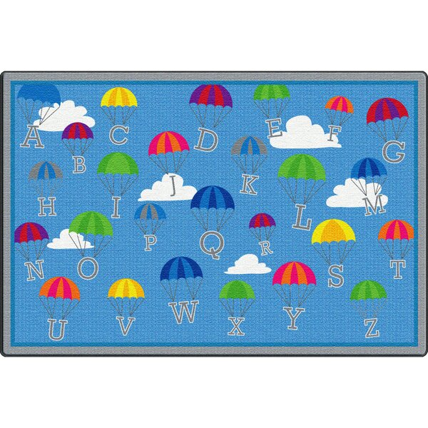 P Is for Parachute Blue Area Rug by ECR4kids