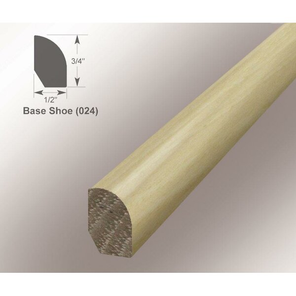 0.47 x 0.75 x 94 Hickory Base/Shoe Molding by Moldings Online