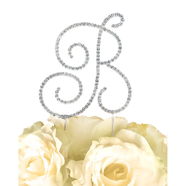 Simply Elegant Letter Monogram Cake Topper by Unik Occasions