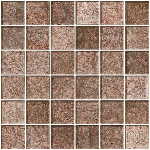 2 x 2 Glass Mosaic Tile in Mocha Pearl by Susan Jablon