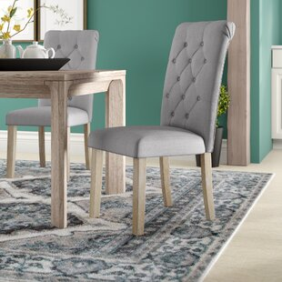 Compare prices Alethea Binningen Button Tufted Upholstered Dining Chair (Set of 2) By Ophelia & Co.