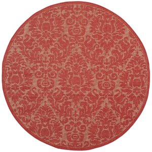 Catori Red Solid Outdoor Area Rug
