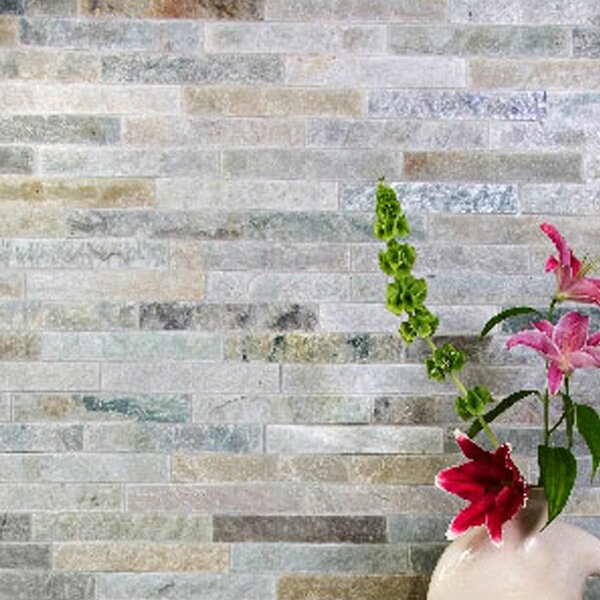 Cladding 2 x 12 Natural Stone Splitface Tile in Bone by Kellani