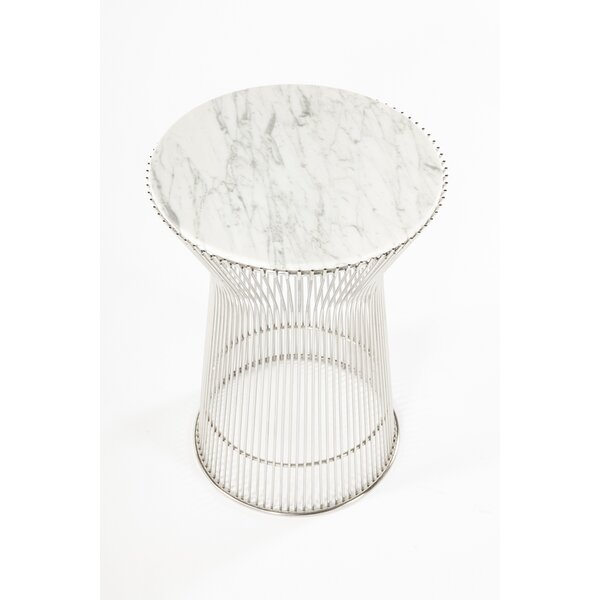 Oconnell Marble End Table By Rosdorf Park