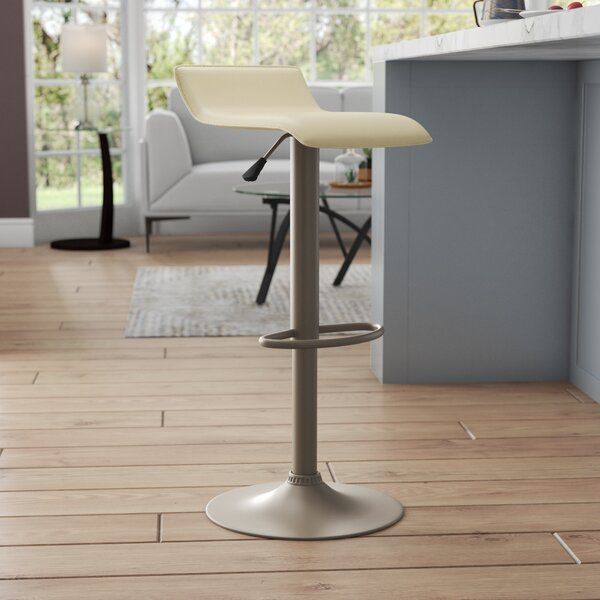 Vincent Adjustable Height Swivel Bar Stool by Latitude Run