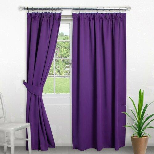 Pencil Pleat Blackout Thermal Curtain Symple Stuff Colour: P