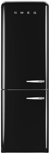 11.7 cu. ft. Counter Depth Bottom Freezer Refrigerator with Wine Rack by SMEG