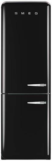 11.7 cu. ft. Counter Depth Bottom Freezer Refrigerator with Wine Rack by SMEG