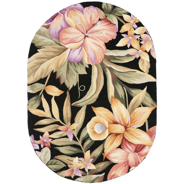 Hogle Black Novelty Area Rug by Bay Isle Home