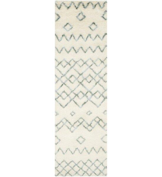Lockheart Geometric Hand-Tufted Beige/Blue Area Rug by Mistana