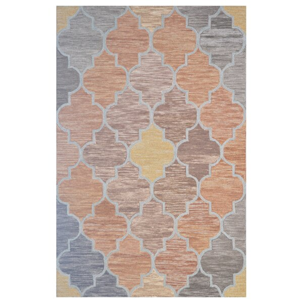 Wool Hand-Tufted Orange/Brown Area Rug by Eastern Weavers