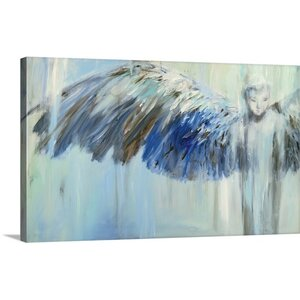 'Blue Angel' by JC Pino Painting Print on Wrapped Canvas by Great Big Canvas