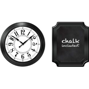 9.2 Wall Clock and Chalkboard Set by Ashton Sutton