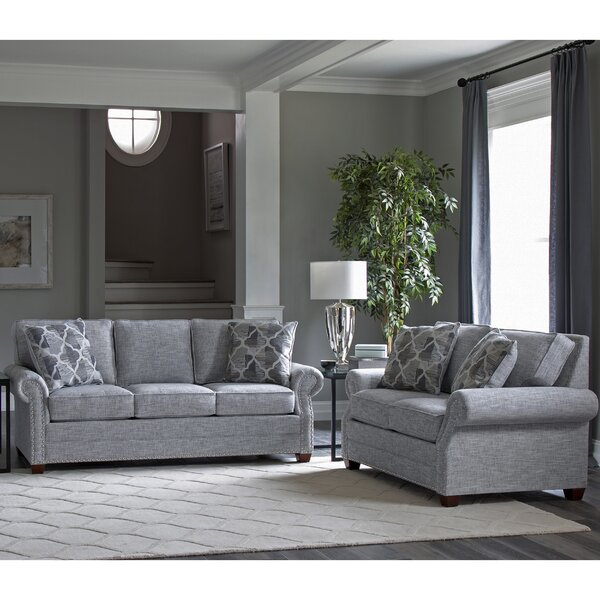 Peebles 2 Piece Sleeper Living Room Set by Canora Grey