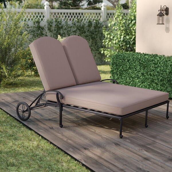 Bean Double Chaise Lounge with Cushion by Fleur De Lis Living