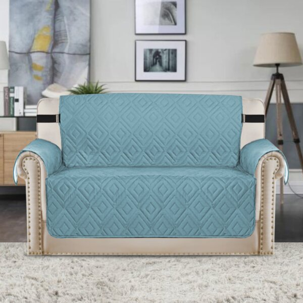 Upgraded Water Repellent Diamond Box Cushion Loveseat Slipcover by Winston Porter