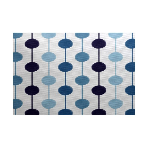 Leal Geometric Blue/White Indoor/Outdoor Area Rug by Ivy Bronx
