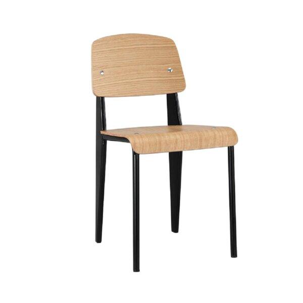 Brevoort Solid Wood Stacking Side Chair in Brown (Set of 2) by Ebern Designs Ebern Designs