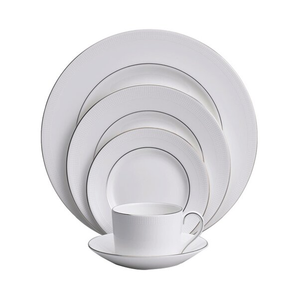 Blanc Sur Blanc Bone China 5 Piece Place Setting, Service for 1 by Vera Wang