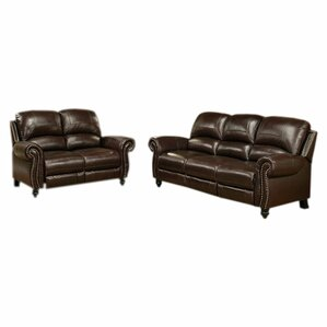 Reclining Living Room Sets Youll Love - Brushed leather sofa 2