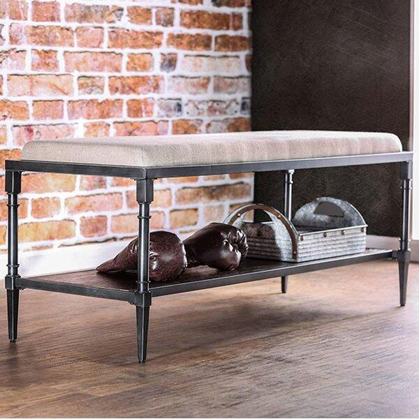 Celestiel Wooden Bench by 17 Stories