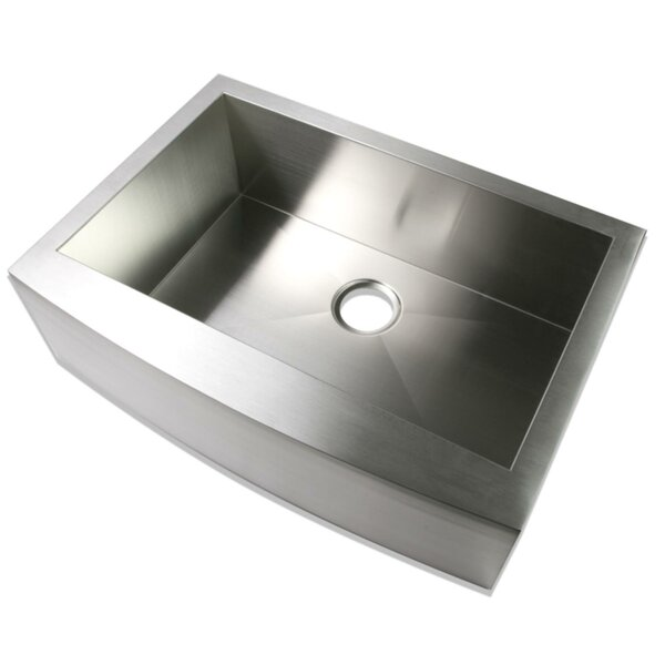 Stainless Steel Single Bowl Basin Handmade Kitchen Sink,32X19x10