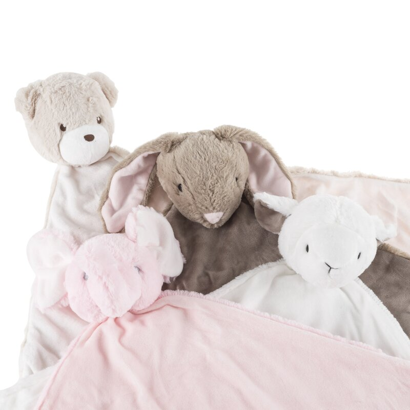 Me to You Adorable Super Soft Fluffy Plush Baby Teddy Security Comforter Blanket Blue