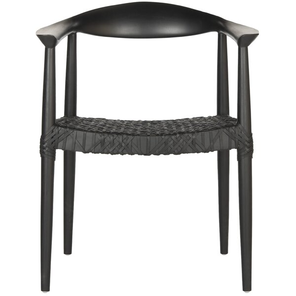 Hakon Genuine Leather Upholstered Dining Chair by Langley Street