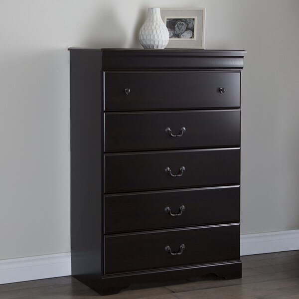 Volkman 5 Drawer Chest by Three Posts