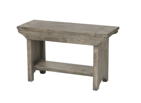 Jaliyah Small Wood Bench by Gracie Oaks