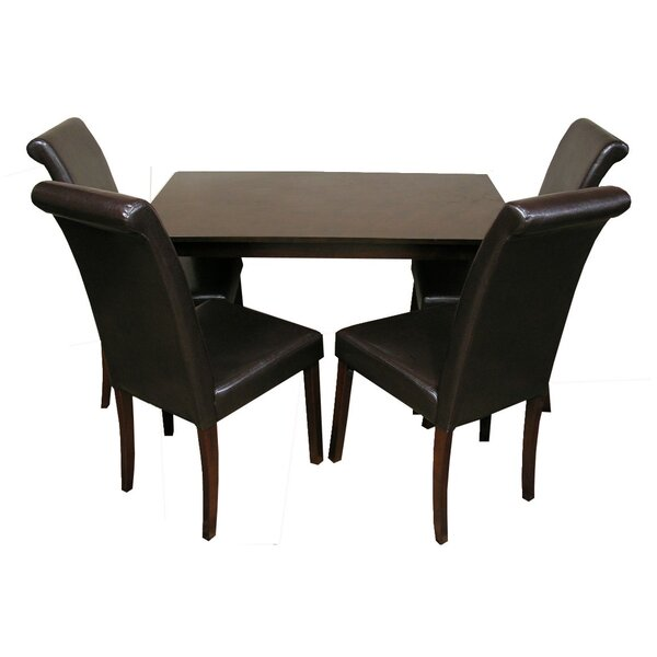 5 Piece Solid Wood Dining Set By Warehouse Of Tiffany Best Choices