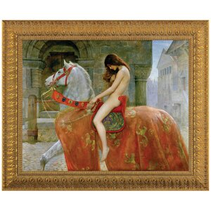 Lady Godiva by John Collier Framed Painting Print by Design Toscano