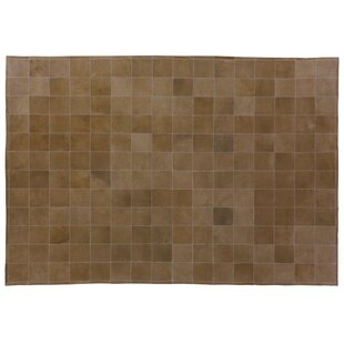 Suede Hand Woven Light Brown Area Rug