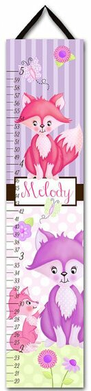 Mommy and Me Fox Personalized Growth Chart by Toad and Lily