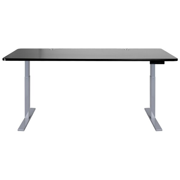 Adjustable Beveled Edge Metal Base Standing Desk by Symple Stuff