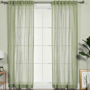sage green curtains wayfair