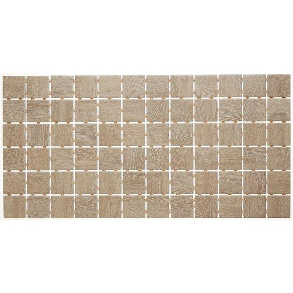 2 x 2 Ceramic Mosaic Tile in Butter Pecan
