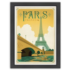 Paris, France Framed Vintage Advertisement by East Urban Home