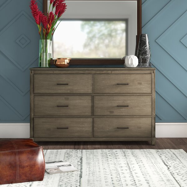 Seleukos 6 Drawer Double Dresser by Mercury Row Mercury Row