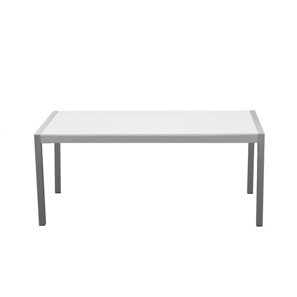 Lawrence Immaculately Elegant Aluminum Dining Table by Orren Ellis
