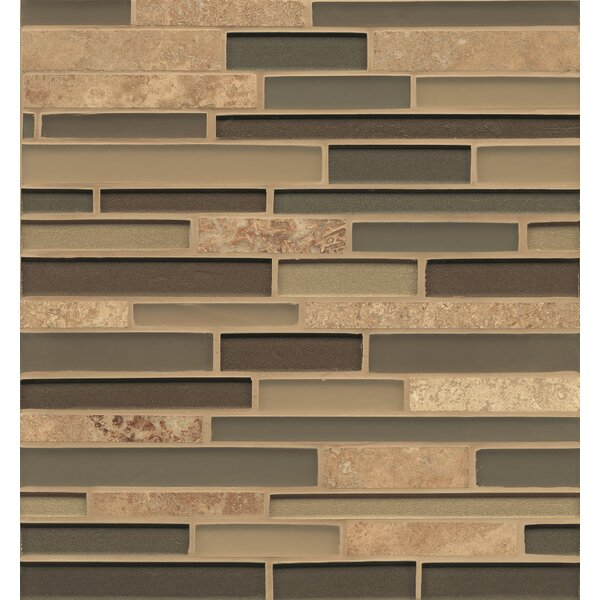 Remy Glass Mosaic Random Interlocking Stone/Glass Blends Tile in Everett by Grayson Martin