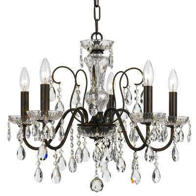 10 Light Polished Brass Crystal Chandelier Draped In Clear Hand Cut Crystal