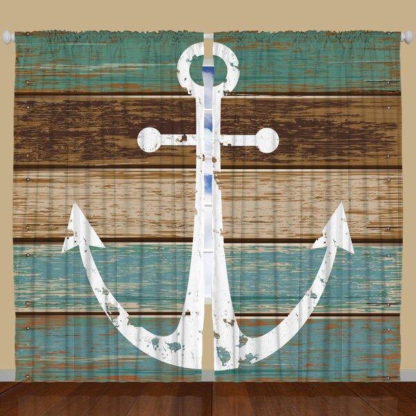 Ambesonne Nautical Blackout Rod Pocket Curtain Panels Reviews Wayfair