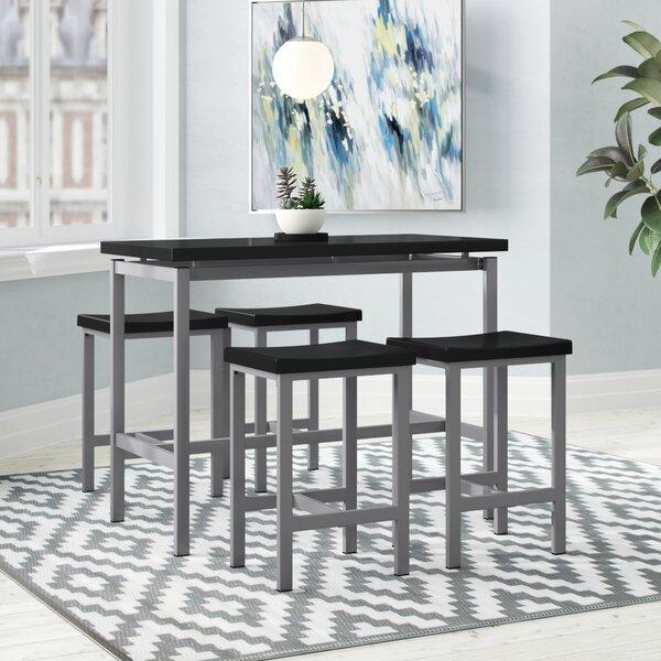 Mysliwiec 5 Piece Counter Height Breakfast Nook Dining Set by Ebern Designs Ebern Designs