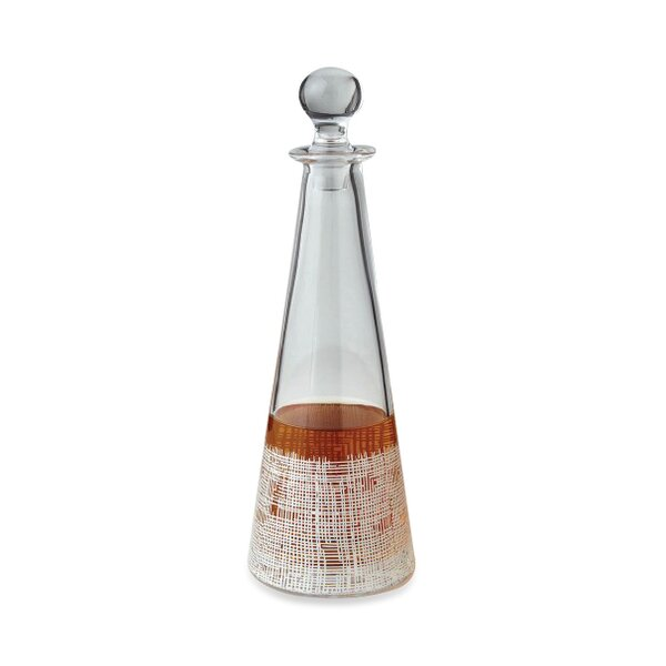 Crosshatch Cone Decanter by DwellStudio