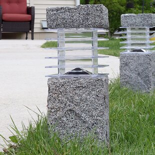 Affordable Price Menifee Outdoor Solar Cement 1 Light Bollard Light By Freeport Park