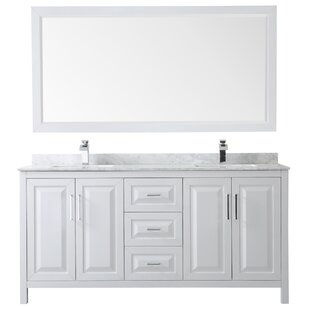Shop For Daria 72 Double Bathroom Vanity Set with Mirror By Wyndham Collection